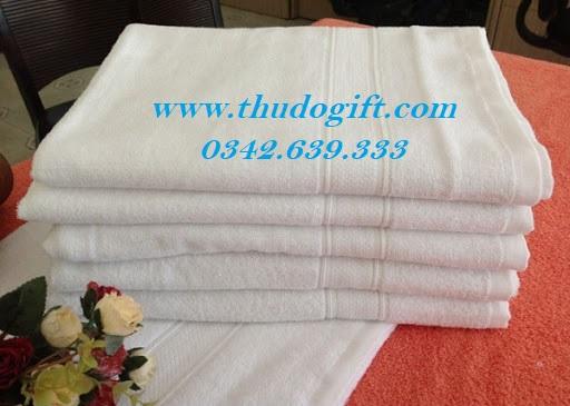 Khăn tắm sợi cotton 100% thêu logo theo yêu cầu- Quà tặng 20 tháng 10
