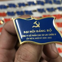 Phù hiệu đại biểu khách mời Cty CP cao su Lai Châu II