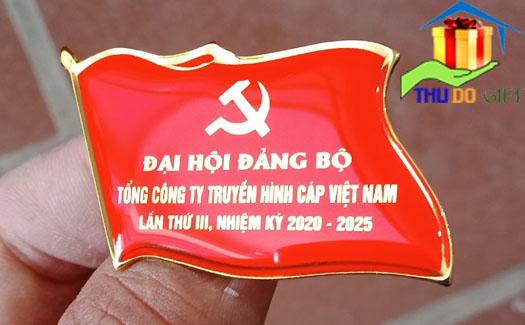 Phù hiệu lá cờ đại hội tổng công ty truyền hình Cáp Việt Nam