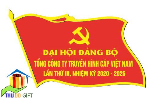 Phù hiệu lá cờ đại biểu bằng kim loại ( ảnh thiết kế)