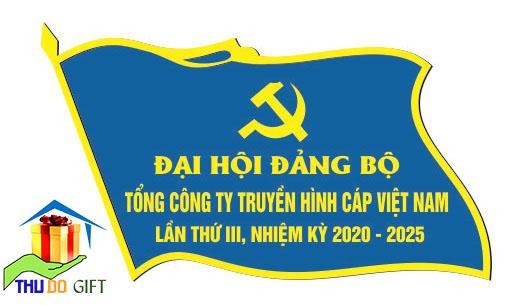 Bản thiết kế phù hiệu lá cờ đại biểu màu xanh
