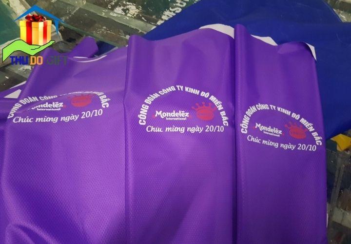 Áo mưa quà tặng 20 tháng 10 Công ty Kinh Đô