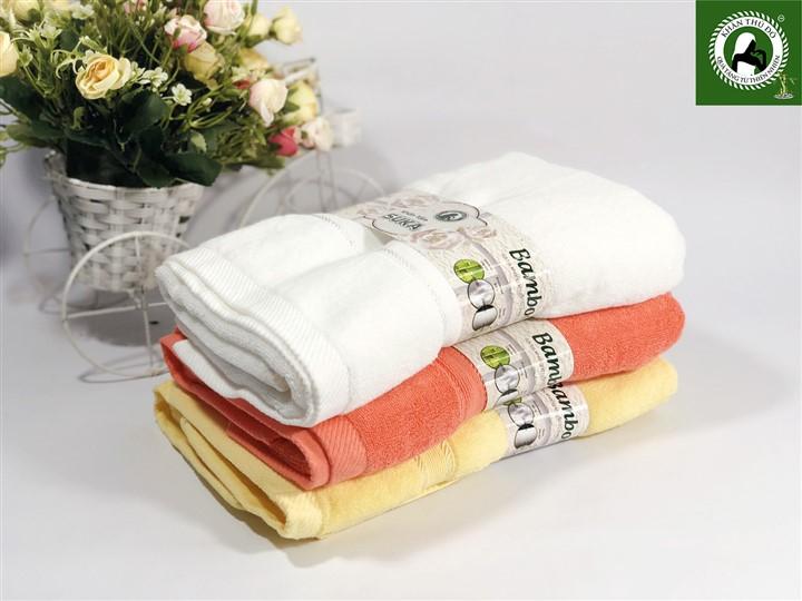 Bộ 3 khăn sợi tre Suka 111 cao cấp