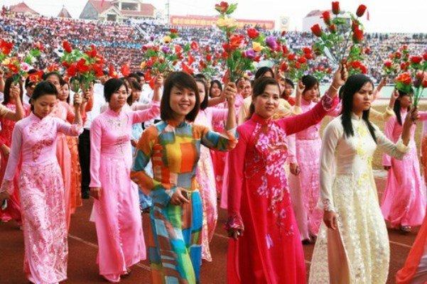Chào mừng ngày phụ nữ Việt Nam 20 tháng 10