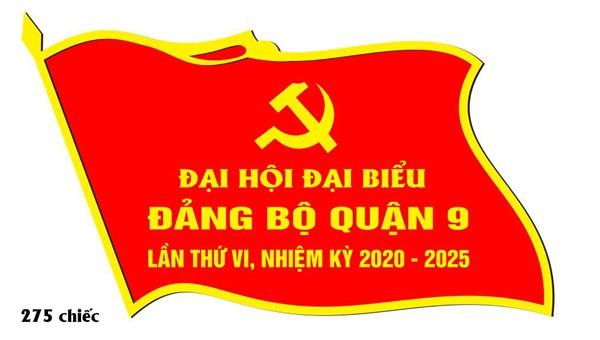 Huy hiệu đại hội đại biểu quận ủy quận 9 - Bản thiết kế