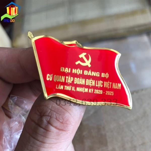 Huy hiệu đại hội cơ quan tập đoàn điện lực VIệt Nam (1)