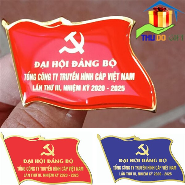 Huy hiệu lá cờ đại hội tổng công ty truyền hình Cáp Việt Nam
