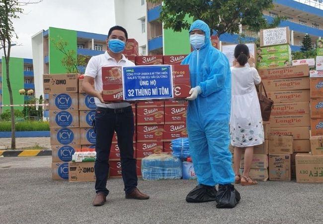 Sales Team KV Hải Dương ủng hộ Mì tôm 3 miền