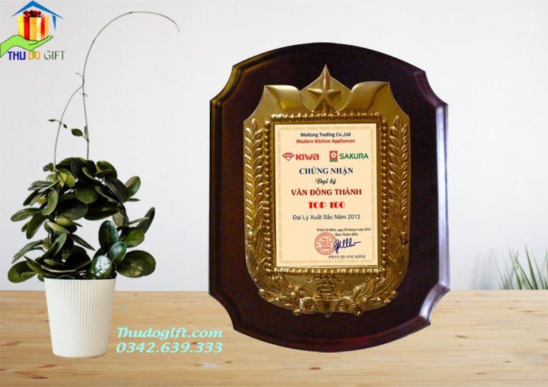 Bảng Vinh danh gỗ đồng giá rẻ tại Hà Nội. In ấn theo yêu cầu