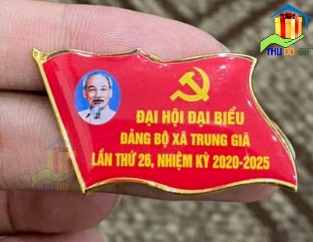 Phù hiệu cá cờ đại hội Đảng bộ xã Trung Giã