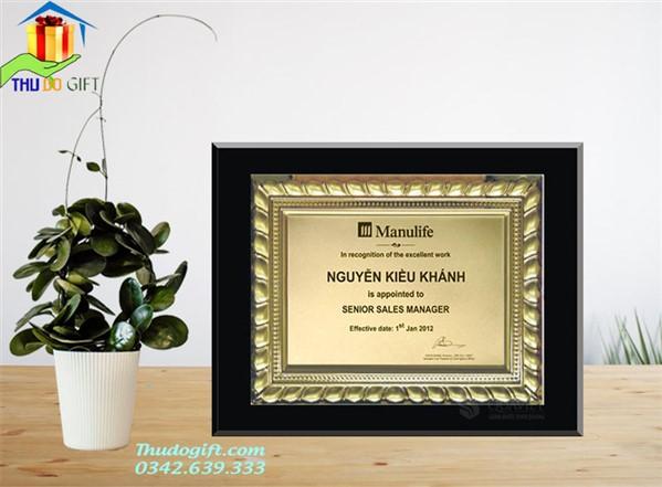 Mẫu bảng vinh danh nhân viên bảo hiểm Manulife