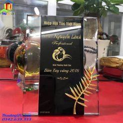 Kỷ niệm chương pha lê cKỷ niệm chương pha lê cành cọ vàngành cọ vàng