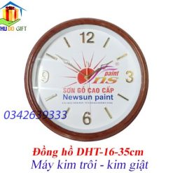 Đồng hồ treo tường tròn in logo hãng sơn