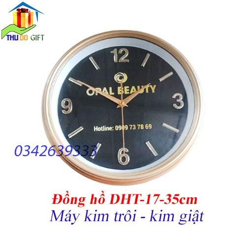 Đồng hồ treo tường số rời in logo giá rẻ