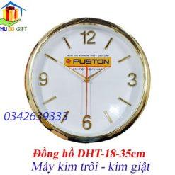 Đồng hồ treo tường số in logo