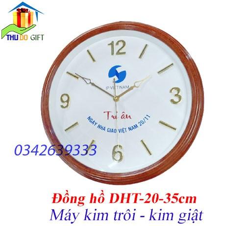 Đồng hồ treo tường rẻ in logo theo yêu cầu