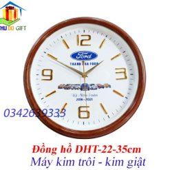 Đồng hồ treo tường hình tròn 35cm in logo