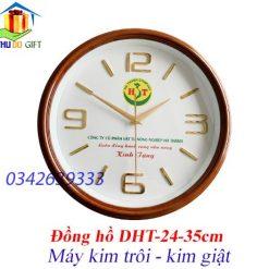 Đồng hồ treo tường làm quà tặng in logo theo yêu cầu