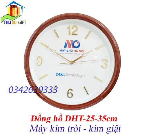 Đồng hồ treo tường in logo thương hiệu