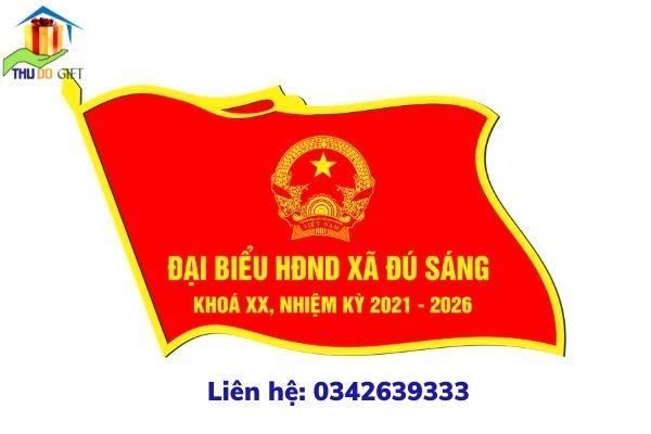 Mẫu phù hiệu đại biểu HĐND xã Đú Sáng