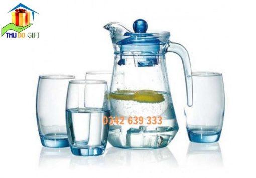 Bình cốc thủy tinh in logo