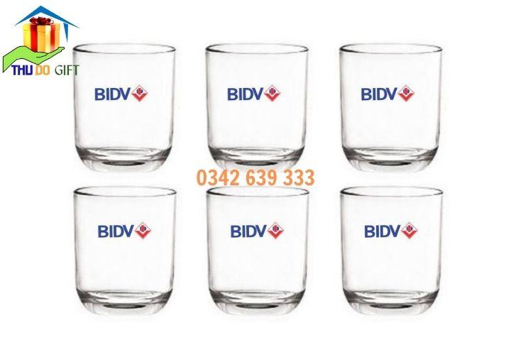 Bộ cốc thủy tin in logo BIDV