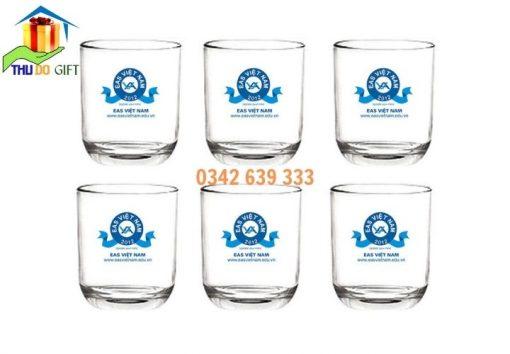Bộ cốc thủy tinh in logo