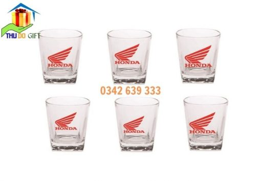 Bộ cốc thủy tinh logo